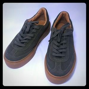 ZARA TRF Womens Olive Suede sneakers Sz 35Eu/5U.S.